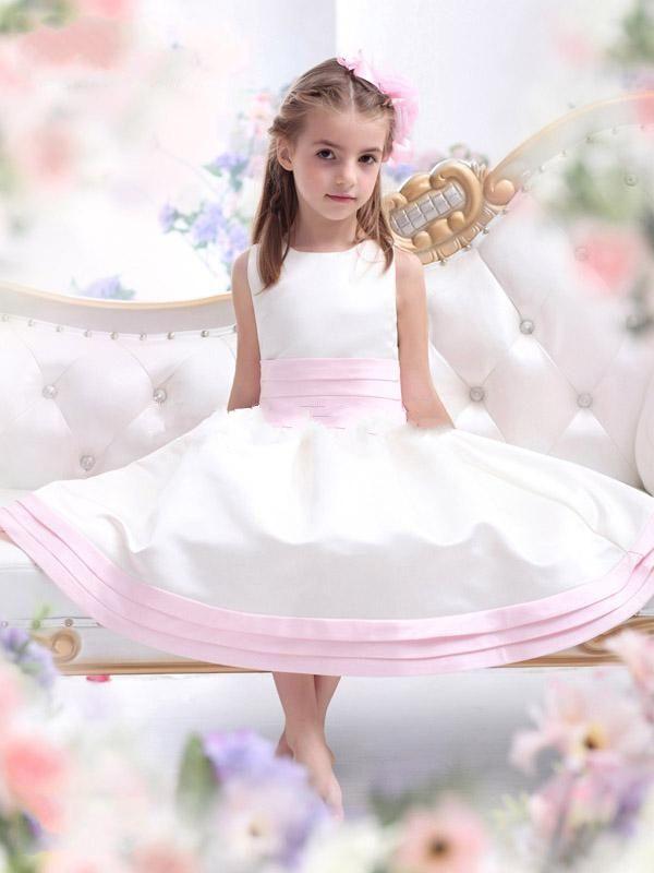 Цветок девочки театрализованное платья бальное платье бант цветы цветок девочка платья для свадьба vestidos де comunion
