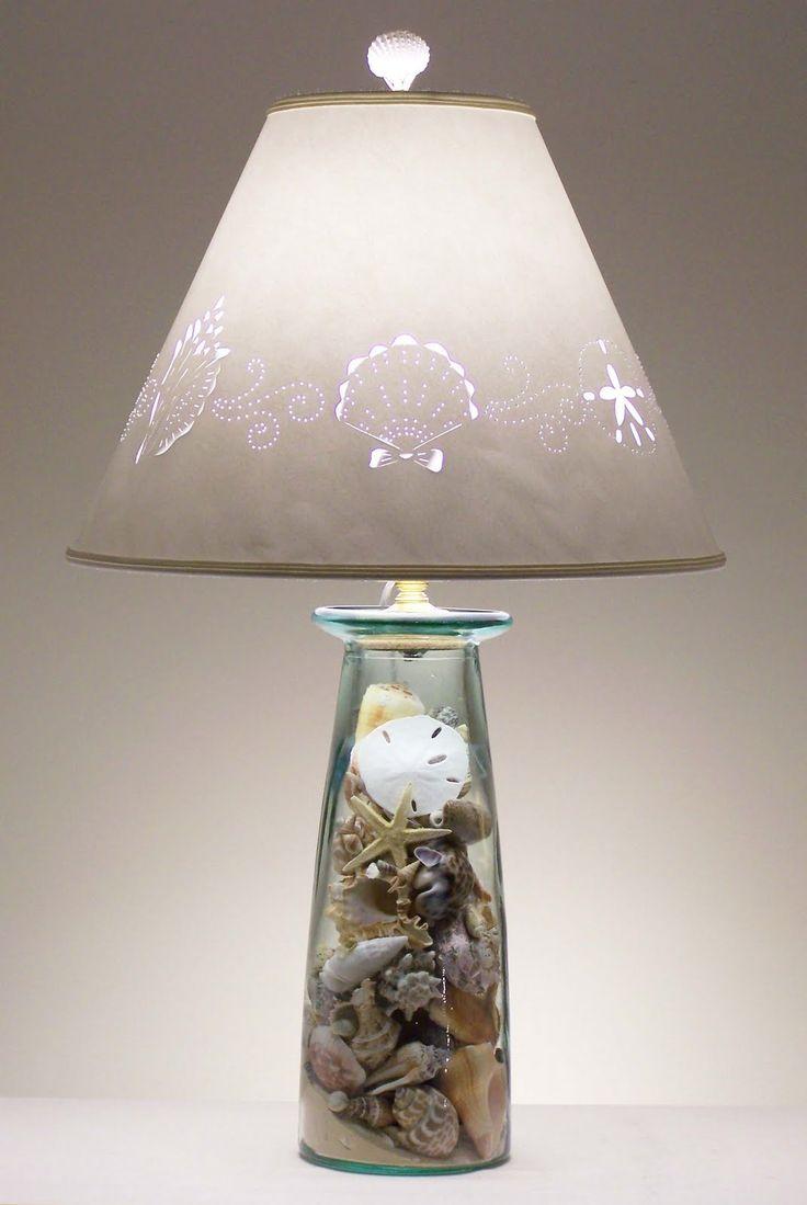 Pretty Shell Lamp Idea for bedroom