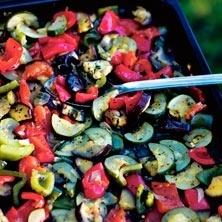Blandade grönsaker i ugn