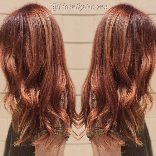 cool toned red hair