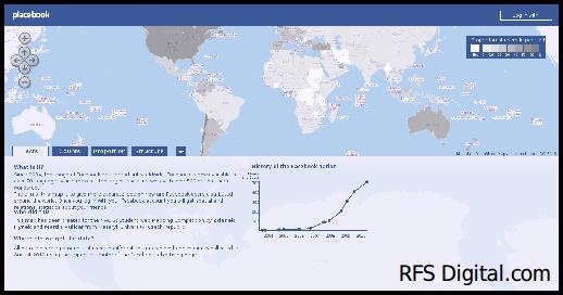 Mapa interactivo de la actividad en Facebook por países