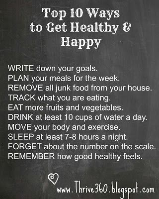 10 Ways to Get Healthy & Happy