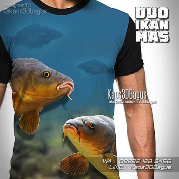 Kaos Mancing Kaos Fishing Kaos Ikan Mas Duo Ikan Mas Fish Fish Pet Animals