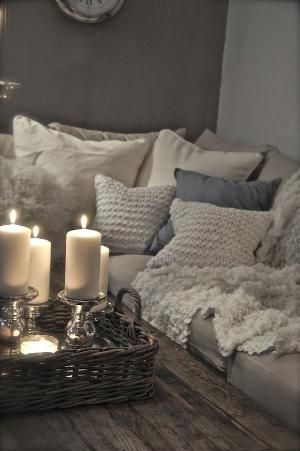 If I knew the candles wouldn't get knocked over by my daughter or fur babies I would totally do this! by dolores