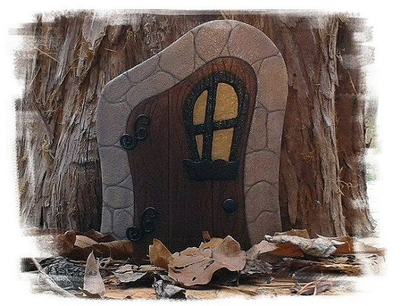 Fairy Door with Glow in the Dark Window & 633 best Fairy doors and fairy dolls images on Pinterest   Bedroom ...