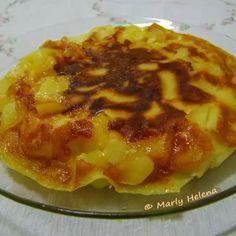 Torta de maçãs relâmpago -  de frigideira