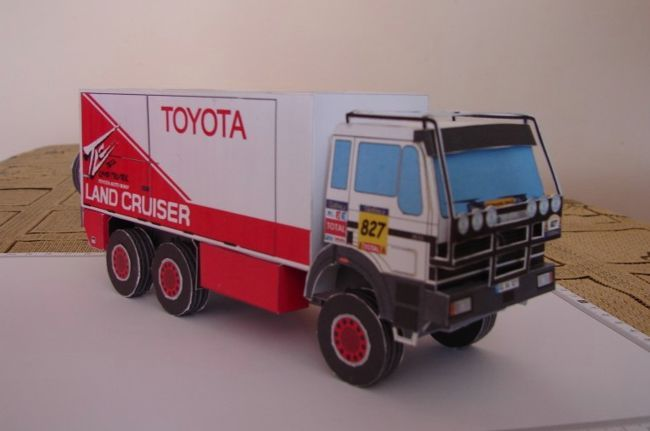 Mercedes-Benz Dakar 2005 Team Toyota #827 Truck Free Vehicle Paper Model Download - http://www.papercraftsquare.com/mercedes-benz-dakar-2005-team-toyota-827-truck-free-vehicle-paper-model-download.html#143, #Dakar, #MercedesBenz, #Toyota, #Truck, #VehiclePaperModel