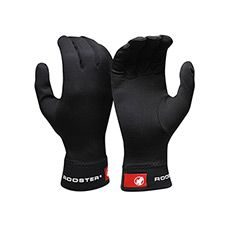 PolyPro Glove Liner - Fleece lined on the inside with a hydrophobic outer coating. Wicks moisture and sweat away from your skin to keep you feeling warm and dry. Great paired with the Rooster Aquapro Glove. #cycling #glove #baselayer #winter