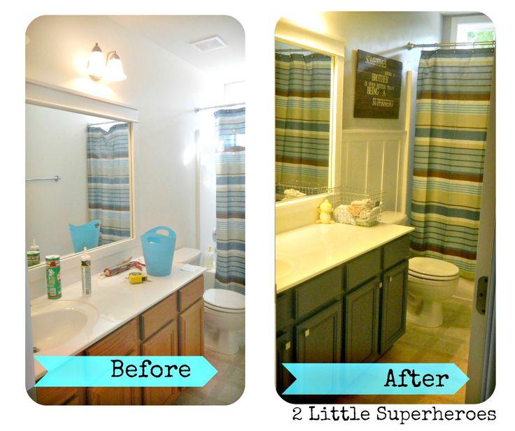 18 best images about bathroom makeover inspiration on for Boys bathroom design
