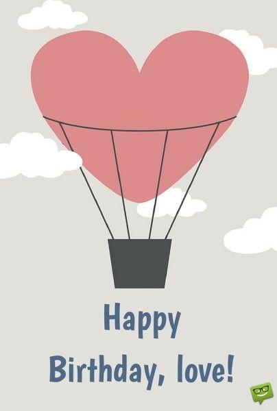 Happy Birthday, love! balloon.
