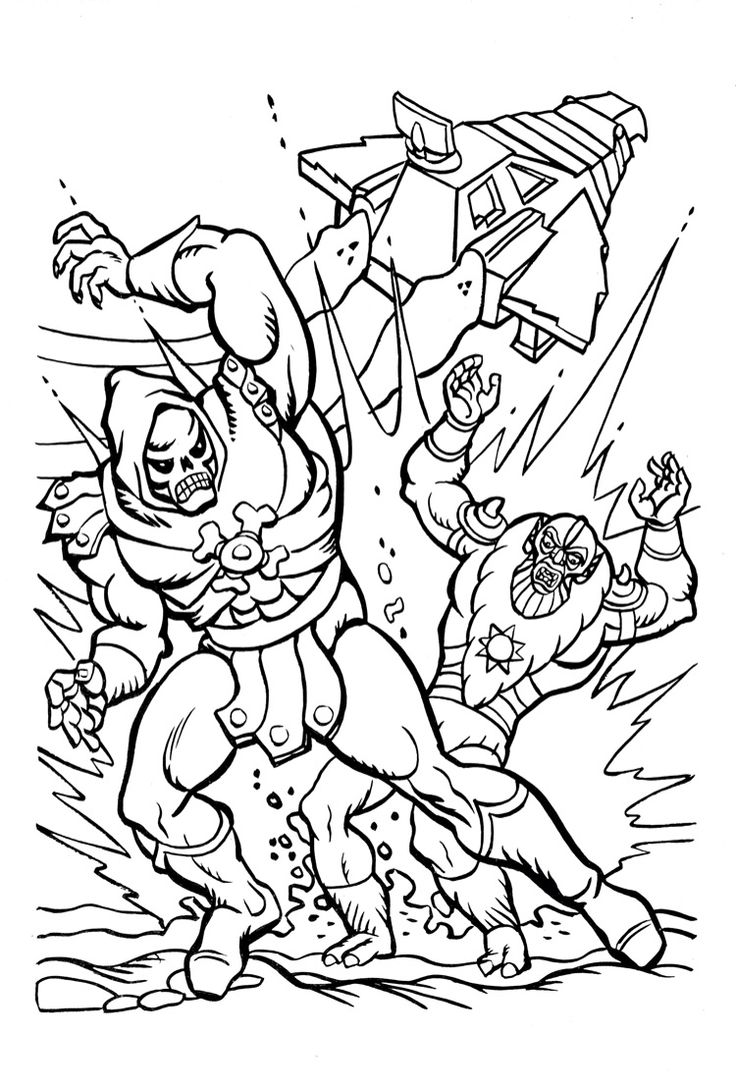 16 Awesome He Man Masters Of The Universe Coloring Pages