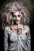 zombi : un no-muerto de miedo zombie girl Foto de archivo