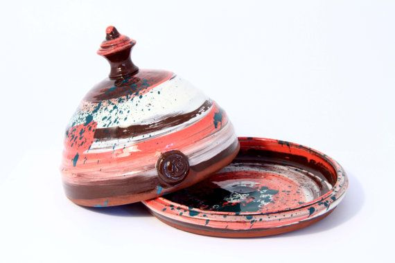 Butter Dish. Colourful handmade ceramic Butter by WigwamCeramics, £55.00