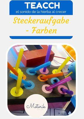Autismus Arbeitsmaterial: TEACCH: Steckeraufgabe von Farben
