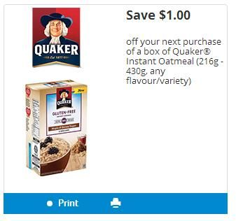 Zehrs/Loblaws/Independent: Quaker Instant Oatmeal 49 Cents After Coupon Until November 13th http://www.lavahotdeals.com/ca/cheap/zehrs-loblaws-independent-quaker-instant-oatmeal-49-cents/137224