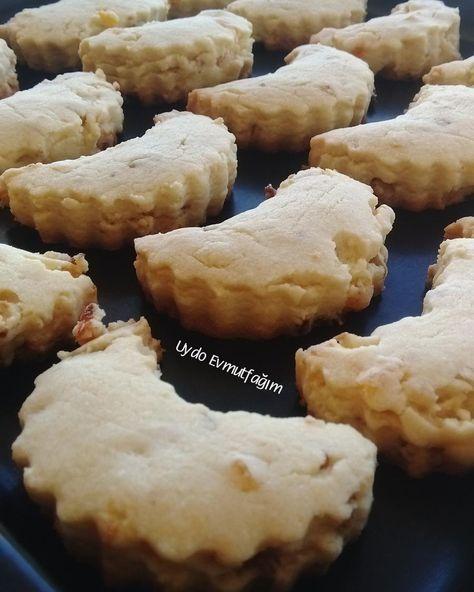 """KURU KAYISILI CEVİZLİ KURABİYE (@uydoevmutfak): """"Kuru kayısılı ve cevizli kurabiyelerimiz piştiler.Kıyır kıyır ağızda dağılan gerçekten çok lezzetli…"""""""