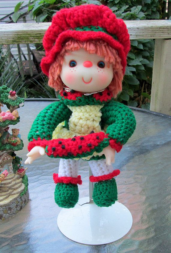 Watermelon Slice Crochet Doll from Lollipop Lane  by MagicAvenue