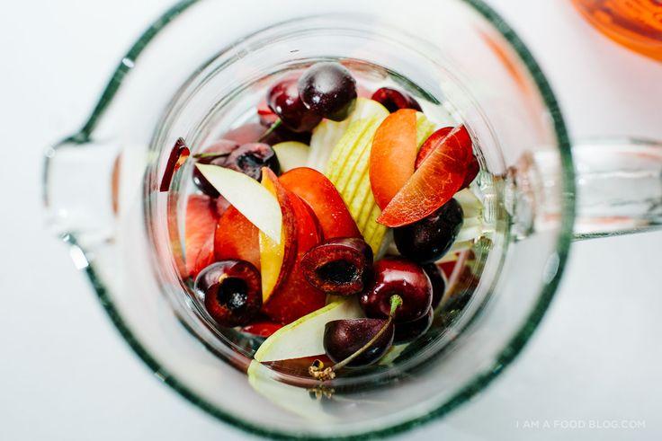 easy sparkling sangria recipe - www.iamafoodblog.com