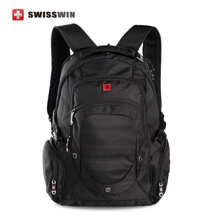 "Swiss Backpack Military Backpack Male Multifunctional 38L Large Travel Bagpack Men's Waterproof 15"" Laptop Backpack Sac a doc"