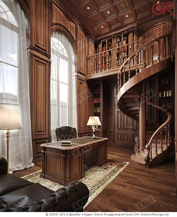Дизайн кабинета в английском стиле   http://www.ok-interiordesign.ru/blog/dizayn-kabineta-i-peregovornoy-v-osobnyake.html