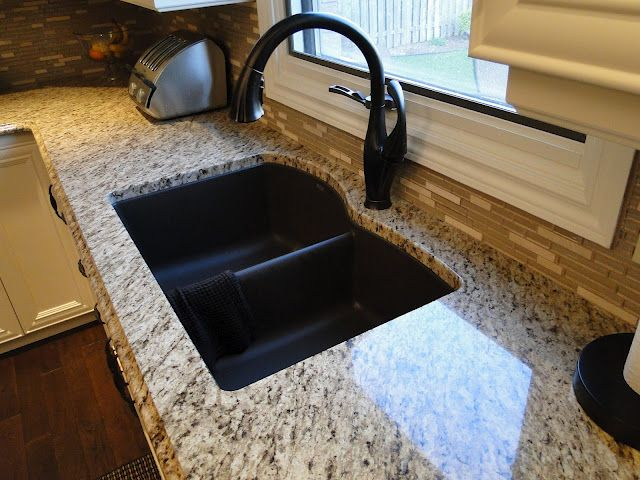 Granite Counter Is Giallo Ornamental . Sink Is Silgranit In Cafe Brown.