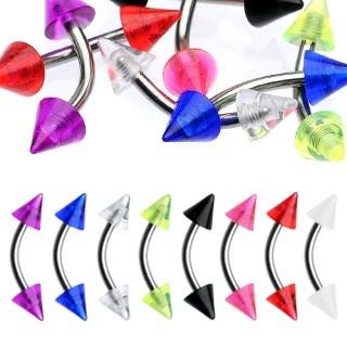 Augenbrauenpiercing mit Spitzen - 8 Farben zur Auswahl