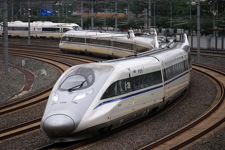 China's high-speed train CRH380A, which has a maximum speed of 380 km/h during regular operations, and can keep a constant speed of 350 km/h