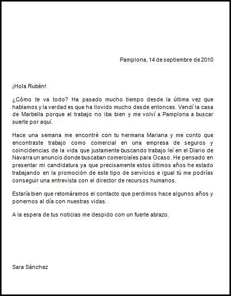 ejemplo de una carta formal