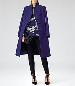 Womens Black Embellished Foldover Bag - Reiss Minty