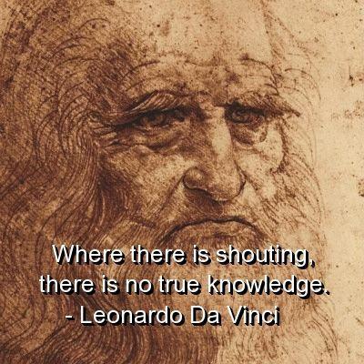 leonardo da vinci, quotes, sayings, true knowledge, wisdom