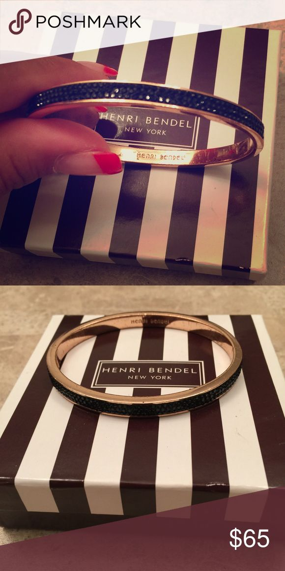 Henri Bendel rose gold and black bangle Good condition henri bendel Jewelry Bracelets