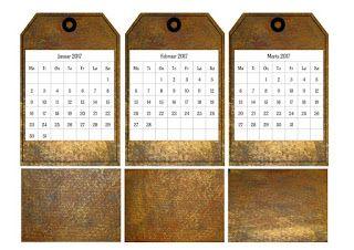 Gratis kalender tags 2017 - kreativ 2017 kalender