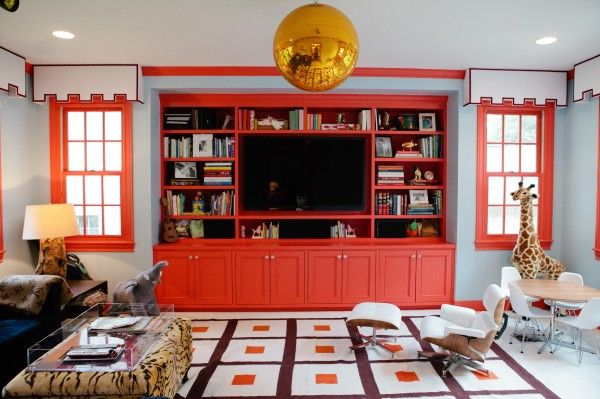 gold disco ball!: Built Ins, Kids Room, Colors, Living Room, Playrooms, Family Room, Playroom Ideas
