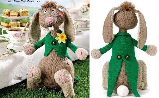 Вязаная игрушка. Мартовский заяц. Описание