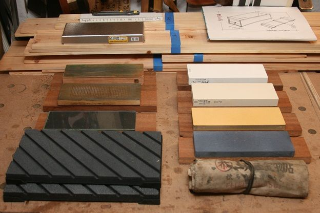 Japanese tools #7: Sharpening station for water stones the base - by mafe @ LumberJocks.com ~ woodworking community