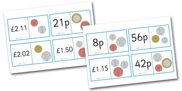 British Coin Value Loop Cards - loop cards, cards, flashcards, coins, coins loopcards, coin loop cards, british coin game, money game, money loop cards, money value loopcards, loop, loop games, games, loop game, activity