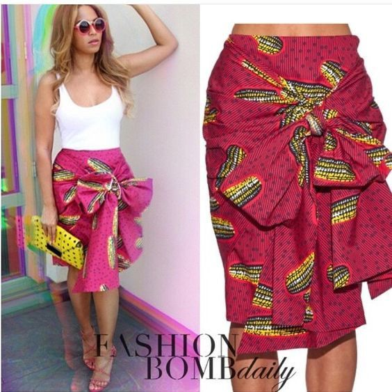 African Pencil Skirt - The African Clothing ~African fashion, Ankara, kitenge, African women dresses, African prints, African men's fashion, Nigerian style, Ghanaian fashion ~DKK