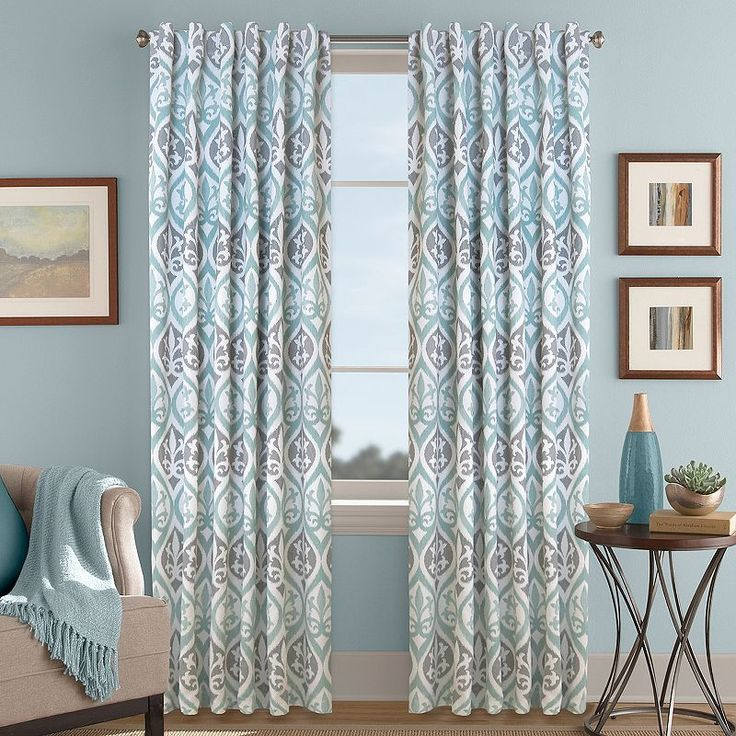 Colordrift Tempest Printed Room Darkening Curtain,