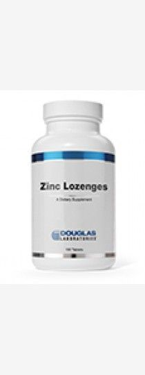 Zinc Lozenges by Douglas Laboratories - Dietary Zinc Supplement. Zinc Lozenges, provided by Douglas Laboratories, supply bioavailable zinc, sweetened with sorbitol and flavored with natural orange extracts. Each tablet contains 10 mg of elemental zinc in the form of zinc glycinate.