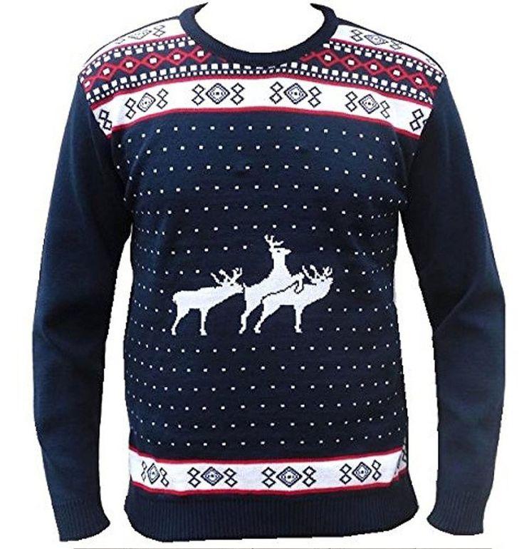 men's funny rude naughty christmas jumper