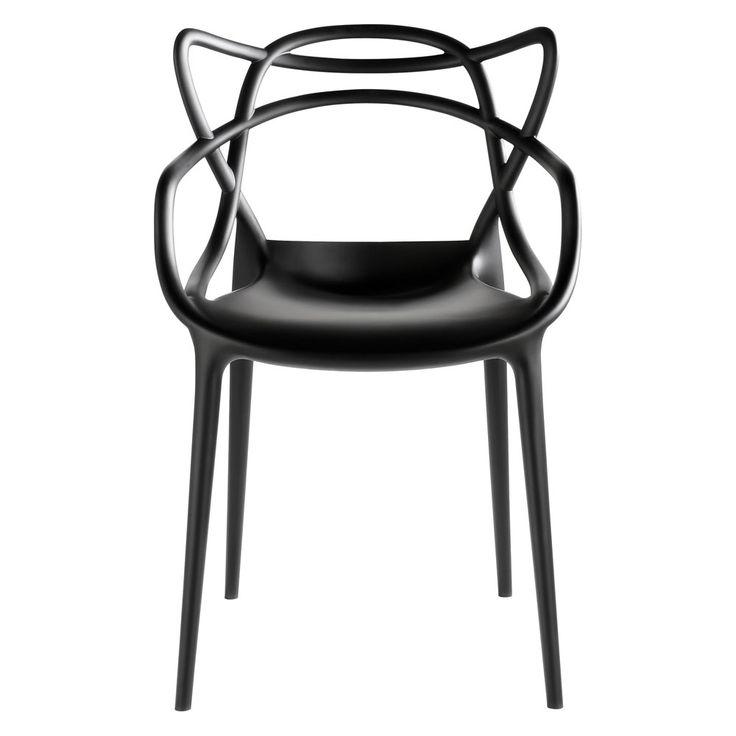 Masters+stol,+svart,+Kartell