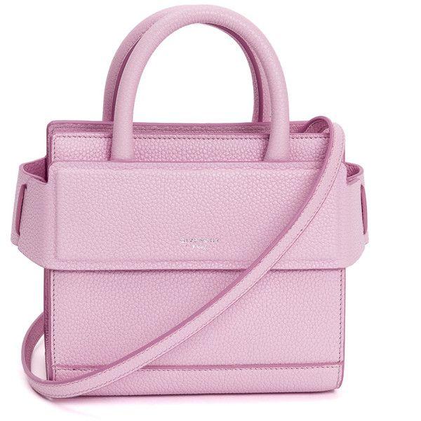 Givenchy Horizon Nano Bag (€1.270) ❤ liked on Polyvore featuring bags, handbags, pink, givenchy bags, givenchy, givenchy handbags, pink purse and pink bag