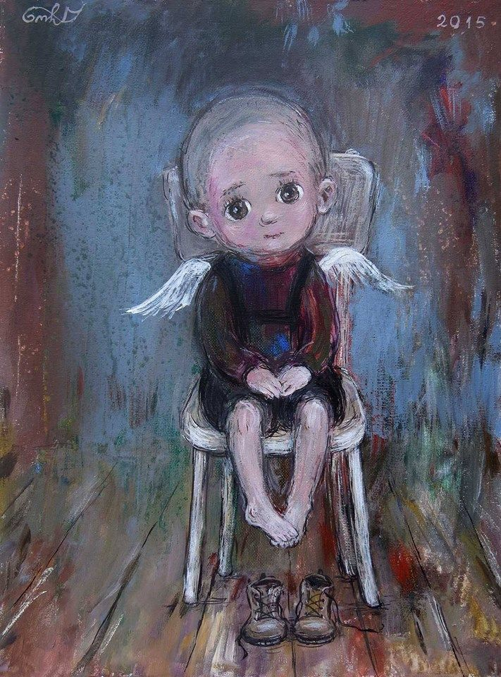 Nino Chakvetadze's Art, Tired Angel