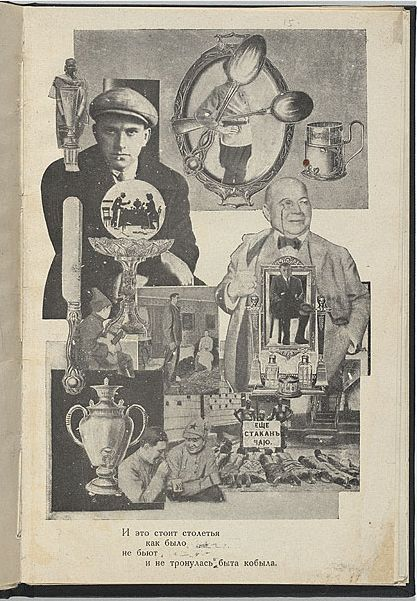An example of Rodchenko's photo montage style in this collabration with poet Vladimir Mayakovsky in which Rodchenko Illustrated.