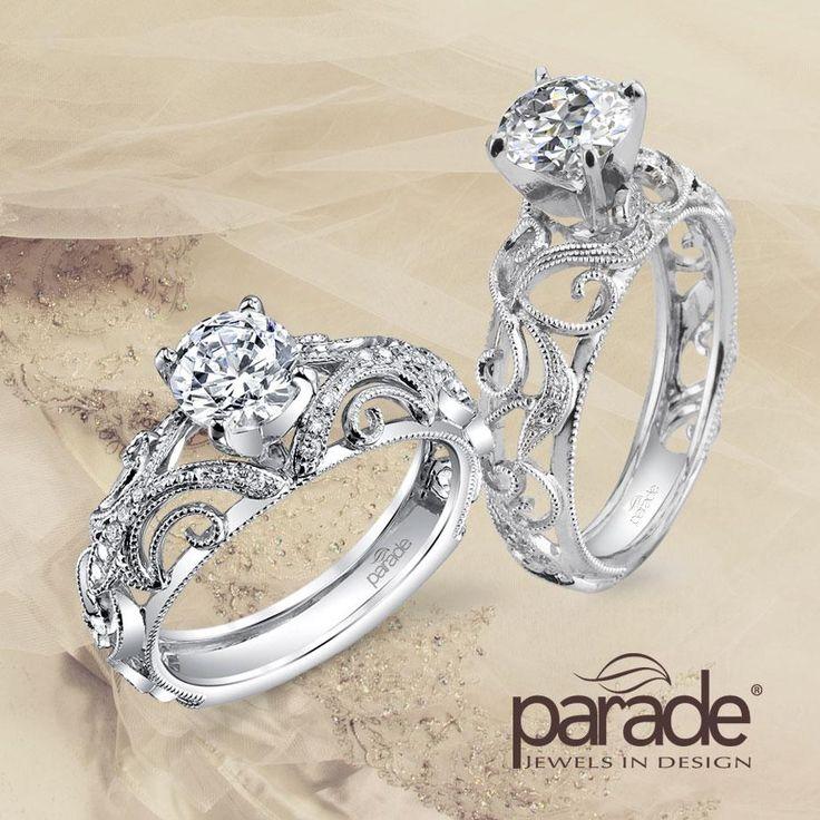 True Vintage Romance: Parade Design's R3072 and R2849 Designer Engagement Rings.
