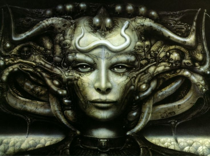 """H. R. Giger. Swiss artist unfortunately tied to concept art for the first of the """"Aliens"""" films. This was only a tiny piece of his work."""