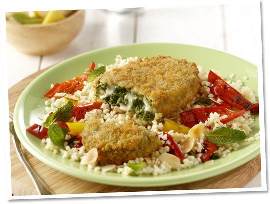 Spinazie-kaasrondo met couscous #Tivall #vegetarisch #recept