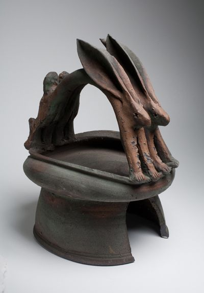 Ken Ferguson pottery.  Barbara studied under Ken at the Art Institute of Kansas City.