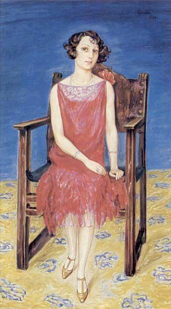 Eva Bonnnier, 1926, Nils von Dardel, Swedish   1888-1943