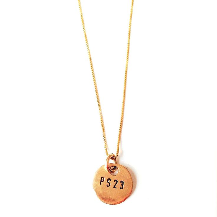 PS23 GOLDEN BRONZE COIN NECKLACE SHORT CHAIN | Emma Israelsson